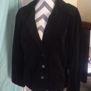 Fashion Bug black velvet blazer L